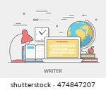 Linear Flat Copywriting Writer...