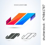 vector abstract logo design... | Shutterstock .eps vector #474861787