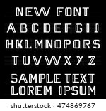 the new font english alphabet | Shutterstock .eps vector #474869767
