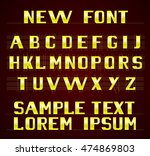 the new font english alphabet | Shutterstock .eps vector #474869803