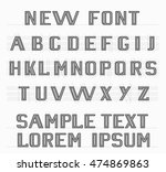 the new font english alphabet | Shutterstock .eps vector #474869863