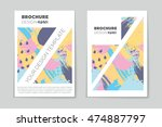 abstract vector layout... | Shutterstock .eps vector #474887797