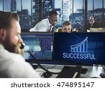 successful achievement increase ... | Shutterstock . vector #474895147