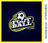 modern professional football... | Shutterstock .eps vector #474903853
