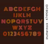 design color alphabet and... | Shutterstock .eps vector #474908143
