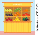 vector illustration a stall... | Shutterstock .eps vector #474913303