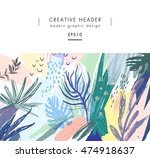 creative universal floral... | Shutterstock .eps vector #474918637