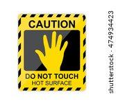 caution  hot surface do not...   Shutterstock .eps vector #474934423