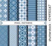 pixel pattern  textile  web... | Shutterstock .eps vector #474950167