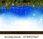 christmas background with... | Shutterstock .eps vector #474957067