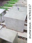 concrete outdoor furniture set... | Shutterstock . vector #474961117