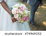 beautiful wedding colorful... | Shutterstock . vector #474969253