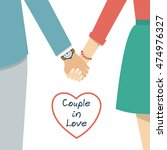 couple holding hands. female... | Shutterstock .eps vector #474976327