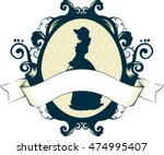 cameo illustration featuring a... | Shutterstock .eps vector #474995407