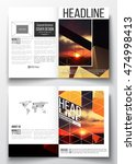 business templates for brochure ... | Shutterstock .eps vector #474998413