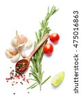 a food and healthy lifestyle... | Shutterstock . vector #475016863