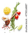 a food and healthy lifestyle... | Shutterstock . vector #475016887