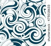 water swirls seamless ornament | Shutterstock . vector #475018633