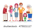 happy family characters love... | Shutterstock .eps vector #475021117
