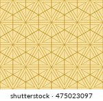 geometric pattern of hexagons.... | Shutterstock .eps vector #475023097