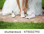 Bride Change Shoes Sneakers