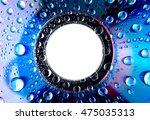 Water Drops On Cd Macro Rainbo...