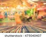 blur image of tables and... | Shutterstock . vector #475040407