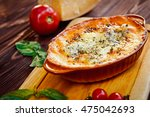 lasagna  italian leafy meat pie ... | Shutterstock . vector #475042693