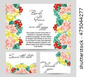 vintage delicate invitation... | Shutterstock .eps vector #475044277