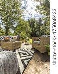 image of rattan outdoor... | Shutterstock . vector #475068433