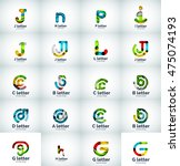 vector set of internet letter... | Shutterstock .eps vector #475074193