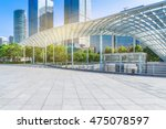beautiful park and glass canopy ... | Shutterstock . vector #475078597
