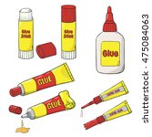 vector collection of glue tubes ...   Shutterstock .eps vector #475084063