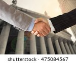 lawyer shaking hands with...   Shutterstock . vector #475084567