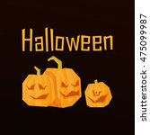 halloween template of the... | Shutterstock .eps vector #475099987