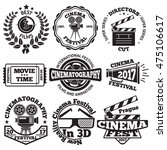 set of cinema badges with... | Shutterstock .eps vector #475106617