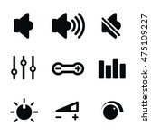 volume control vector icons....