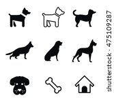 dog vector icons. simple...