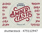 vintage decorative font named ... | Shutterstock .eps vector #475112947