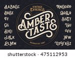 vintage decorative font named ... | Shutterstock .eps vector #475112953