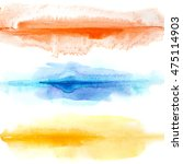 abstract colorful watercolor... | Shutterstock . vector #475114903