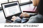 registration application... | Shutterstock . vector #475118467