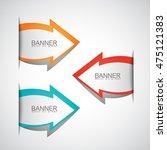 arrows banner set   isolated on ... | Shutterstock .eps vector #475121383