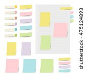 collection of colorful sticky... | Shutterstock .eps vector #475124893