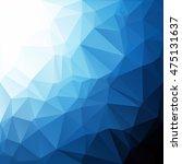 blue polygonal mosaic... | Shutterstock .eps vector #475131637
