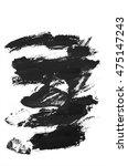 black hand painted brush stroke | Shutterstock . vector #475147243