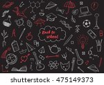 back to school themed doodle... | Shutterstock .eps vector #475149373