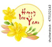 yellow apricot flower ... | Shutterstock .eps vector #475152163