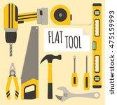 flat diy tool vector   Shutterstock .eps vector #475159993