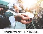 businessman making presentation ... | Shutterstock . vector #475163887